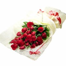 36 red roses bouquet