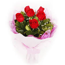 6 roses hand bouquet Only for Pune