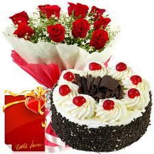 1 kg chocolate Cake 15 Red Roses