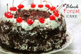 Eggless 1 kg black forest cake