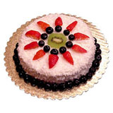 Eggless cakes 1 kg Strawberry cake