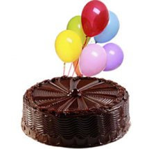 1 kg chocolate cake with 12 air filled balloons