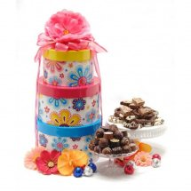 Large gifts basket 1/2Kg Mix Mithai 1/2Kg Cookies, Chocolates