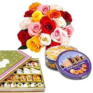 Cookies, roses, sweets