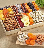 Dry fruit in a tray