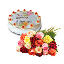 Mix flowers with cake one pound