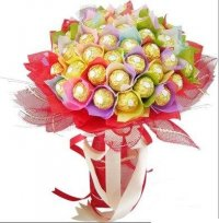 16 pieces Ferrero chocolate bouquet