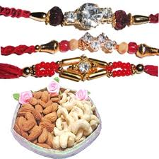 3 rakhis with kaju badam 600 gm
