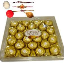 24 pc ferrero rocher with 2 rakhi