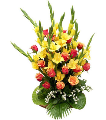 20 roses Gladioli mix bouquet