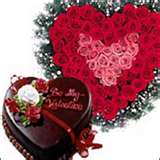36 roses heart with heart shaped chocolate cake 1 kg