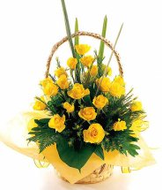 yellow roses arrangement