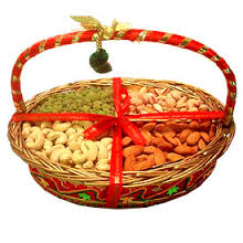 Assorted Dry Fruits Basket( 4 Varieties)