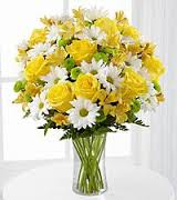12 yellow roses and 8 white roses vase