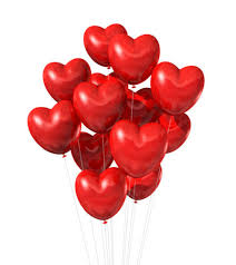 40 heart shaped gas balloons for Ludhiana