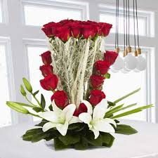 White Lilies Roses bouquet