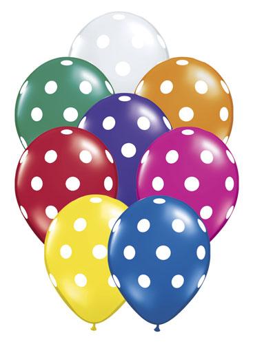 12 Polka Dot Air Balloons