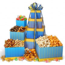 Large gifts basket, 1/2 Kg Mix Mithai, 1/2 Kg Cookies, Cadbury Chocolates, 1/2Kg Dry fruits, 1/2 Kg chocolate Cake