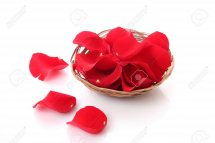 Rose petals in a basket Equivalent to 8 roses
