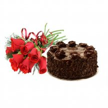 flowers with cake one pound