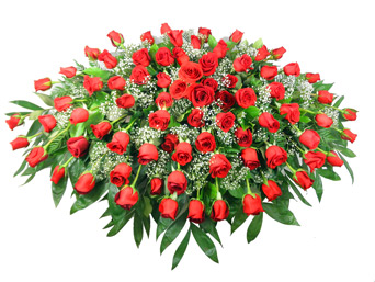 75 mix roses in a basket