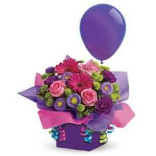Flowers with balloons