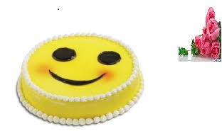 Eggless 1/2 kg smiley chocolate cake