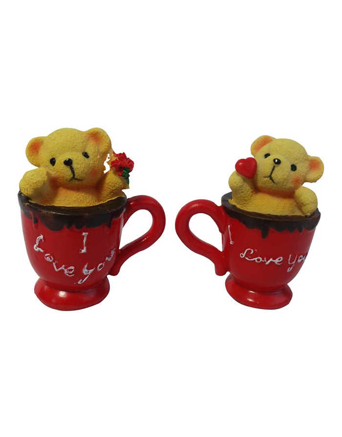 2 Teddies in 2 coffee mugs