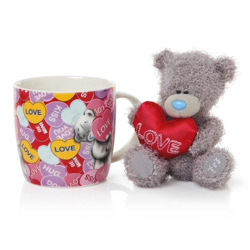 Teddy bear with coffee mug