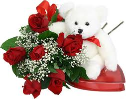 12 red roses bouquet, Teddy and chocolates